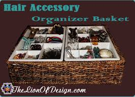 hair accessory organizer hair accessory organizer basket the lion of design