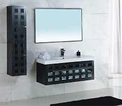 bathroom modern black and white floating bathroom vanity with
