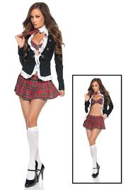 england style student uniform w plaid skirt