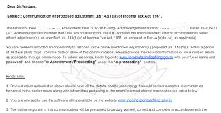 how to replay proposed adjustment notice u s 143 1 a