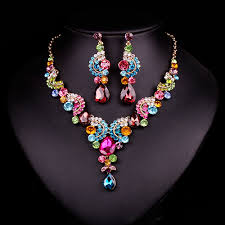gold plated fashion necklace images Gold plated fashion bridal jewellery set jpg