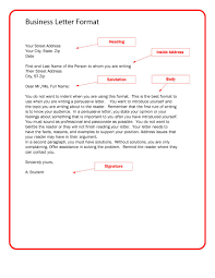 ideas of how to write a formal business letter heading for free