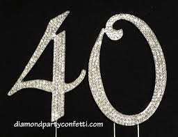 rhinestone number cake toppers rhinestone number 40th birthday 40 anniversary number cake