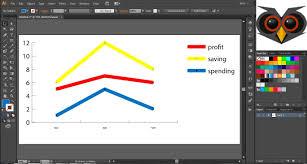 tutorial illustrator layers line graph illustrator art ed digital pinterest illustrators