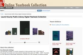 online yearbook database research laurel county library