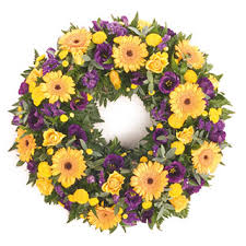 funeral wreaths yellow and blue wreath deliver funeral flowers in edinburgh local