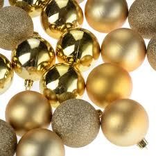 4mm shatterproof gold baubles balls tree ornament