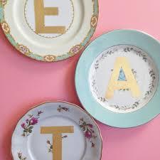 monogrammed plate gold monogram vintage plates hometalk