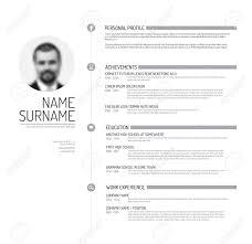 vector minimalist cv resume template minimalistic black and