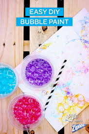 fun outdoor craft for kids diy bubble paint is a great way to get