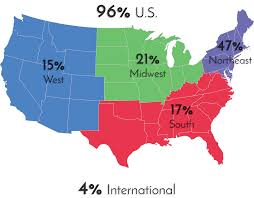 Northeast Map Of Us Midwest Maps Us Regions West Midwest South And Northeast United