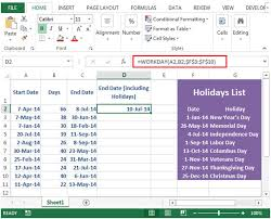 calculating a project s end date in microsoft excel 2010