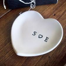 ring holder for wedding promisepottery ring holder wedding ring dish personalized
