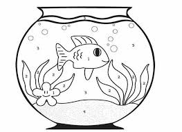 colour drawing free wallpaper fish bowl coloring drawing free