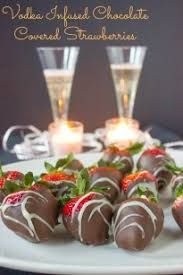 chocolate covered strawberries with vodka infused brown sugar