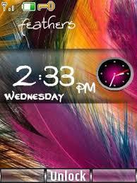 themes nokia 5130 xpressmusic download free feather clock mobile theme nokia mobile theme