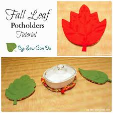Table Protector Pads by Sew Can Do Tutorial Time Fall Leaf Potholders U0026 Table Protector Pads