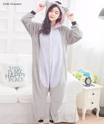 unicorn gray koala animal pajamas unisex pyjamas adults