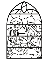 stained glass windows children colour free coloring pages