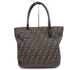 fendi tobacco monogram zucca ff 82133 brown tote bag u2013 bagriculture