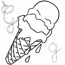 Coloriage de lalphabet g comme glace  Coloriages de lalphabet à