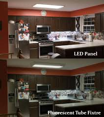 Flush Mount Kitchen Lighting Fixtures Led Panel Light 1x4 4 100 Lumens 40w Dimmable Even Glow