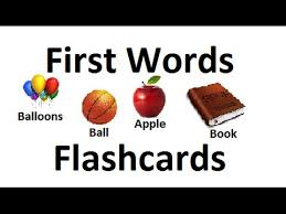 first words flashcards for babies toddlers prek k learning