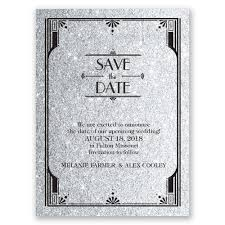 save the date invitation glamorous faux glitter save the date card invitations by