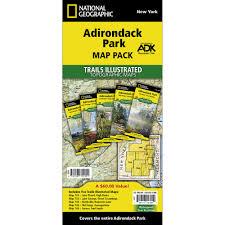 Adirondack Mountains Map 742 Lake Placid High Peaks Adirondack Park Trail Map National