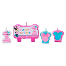 1st birthday candle 4ct minnie mouse 1st birthday party candles target
