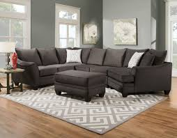 flannel seal sectional with cuddler ffo home