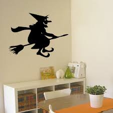 Witch Home Decor Aliexpress Com Buy Classic Witch Rides A Broomstick Halloween