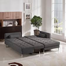 Sectional Sofa Bed Opus Grey Fabric Sectional Sofa Bed Steal A Sofa Furniture