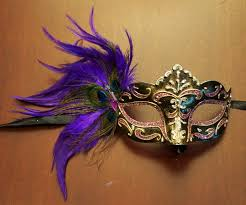 feather masks feather eye mask purple