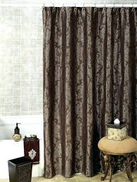 Fabric Shower Curtains With Valance Swag Shower Curtains A Image Of Manor Hill Silhouette Vine Shower