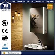 ip44 electric led lighted waterproof bathroom mirror mdf cabinet