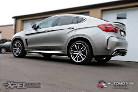matte grey bmw 2016 bmw x6m u2013 full vehicle wrap u2013 xpel stealth matte ppf