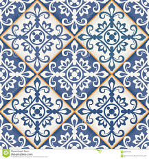 seamless patchwork pattern moroccan tiles stock vector image
