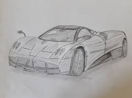 supercar drawing pagani huayra sketch drawing by exemplargraphicarts on deviantart
