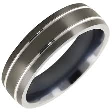 epic wedding band mens comfort fit wedding band in titanium 7mm