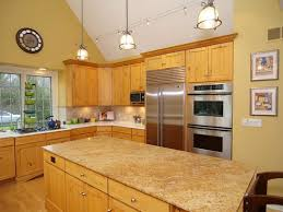 what paint color goes best with hickory cabinets paint color in kitchen with hickory cabinets
