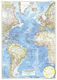 Ocean Maps Atlantic Ocean Map 1955 Maps Com