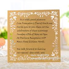 Single Invitation Cards Compare Prices On Laser Cut Wedding Invitations With Save The Date