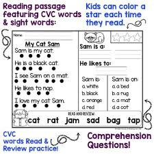 kindergarten reading passage kindergarten reading comprehension passages by sweet sounds of