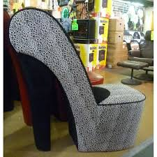 High Heel Shoe Chair Leopard Leather Shoe Chair Furniture For Living Room Interior Design