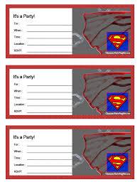 printable superman invitations printable invitations
