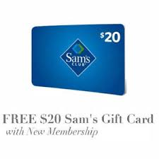 s gift card free 20 gift card for joining sam s club ebay