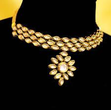 elegant choker necklace images Buy elegant kundan choker necklace set online JPG