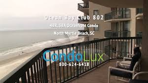 ocean bay club 802 north myrtle beach vacation rental video