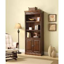 Cherry Wood Bookcase With Doors Rc Willey Sells Bookcases For Your Home Office